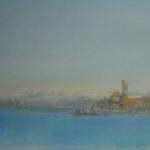 Piran and Snowy Peaks Beyond
